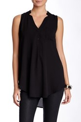 Lush V Neck Tank Juniors Black