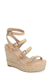 Charles By Charles David Women's Larissa Wedge Sandal Nude Leather