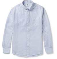 Nn.07 Nn07 New Derek Button Down Collar Cotton Shirt Sky Blue