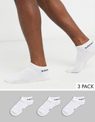 Bjorn Borg 3 Pack Trainer Sock White