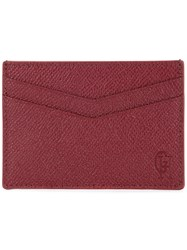 Gieves And Hawkes Classic Cardholder Red
