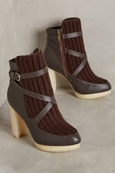 Anthropologie Australia Luxe Collective Mercy Knit Booties Brown