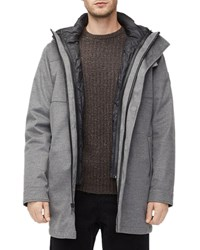 Ugg Gavin Wool Hooded Bomber Jacket Medium Heather Gr