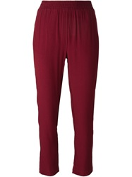 8Pm Cropped Trousers Red