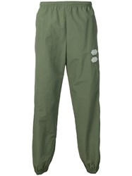 Off White Elasticated Trousers Green