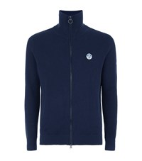 North Sails Lance Ribbed Zip Up Sweater Male Navy