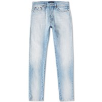 Valentino Distressed Slim Jean Blue