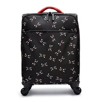 Lulu Guinness Kooky Cat Soft Trolley Suitcase Black Multi Black Multi Black White