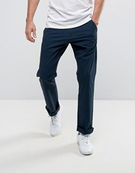 French Connection Chino Trouser In Regular Fit Navy