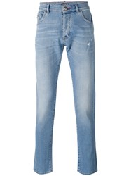 Philipp Plein Straight Leg Jeans Men Cotton Elastodiene Polyester 29 Blue