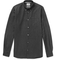 Norse Projects Anton Button Down Collar Denim Shirt Black