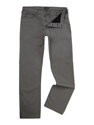 Armani Jeans J21 Regular Fit Gaberdine Trousers Grey