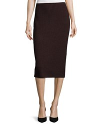 Theory Ornita J Evian Houndstooth Pencil Skirt Black Sumac Black Sumac