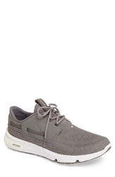 Sperry Men's 7 Seas Sneaker Grey Fabric