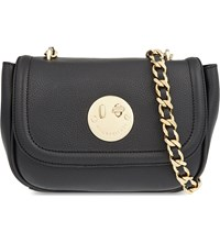 Hill And Friends Happy Chain Leather Shoulder Bag Liquorice Black