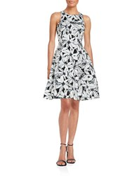 Maggy London Floral Fit And Flare Dress Black Soft