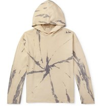 Massimo Alba Drake Tie Dyed Cotton And Cashmere Blend Hoodie Cream