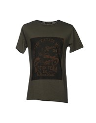 Athletic Vintage T Shirts Military Green