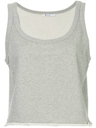 Alexander Wang Cropped Fitted Tank Top Grey