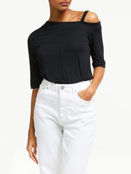 And Or Across Shoulder Top Black