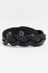 Men's Will Leather Goods 'District' Bracelet Black