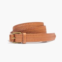 Madewell Mayla Embossed Belt Burnished Caramel