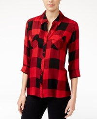 Maison Jules Plaid Shirt Only At Macy's Banner Red Combo