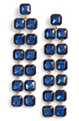 Sole Society Women's Chandelier Earrings Sapphire