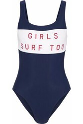 Zoe Karssen Printed Swimsuit Navy