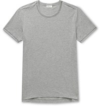 Schiesser Lorenz Stretch Cotton And Modal Blend T Shirt Gray