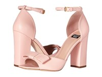 Boutique Moschino Ankle Strap Heel With Bow Blush