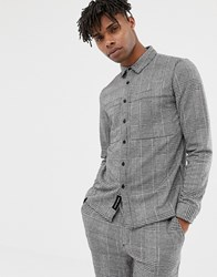 Native Youth Co Ord Checked Shirt Black