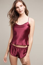 Anthropologie Gina Silk Cami Wine