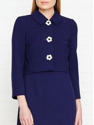 Hobbs July Daisy Button Jacket French Blue