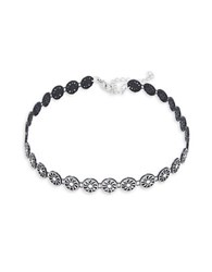 Design Lab Lord And Taylor Swirl Disc Choker Necklace Black