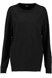 Blk Dnm Sweatshirt 14 Zip Detailed Brushed Cotton Blend Top