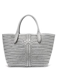 Anya Hindmarch The Neeson Medium Metallic Leather Tote Bag Silver