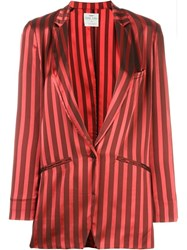 Forte Forte Striped Blazer Red