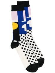Henrik Vibskov Patterned Ankle Socks Unisex Cotton Nylon Spandex Elastane One Size