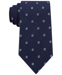 Club Room Fine Open Neat Tie Only At Macy's Navy