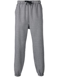 Alexander Wang Checked Trousers Black