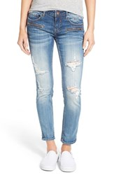 Women's Vigoss 'Thompson' Destroyed Crop Skinny Jeans Medium Wash