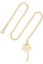 Jennifer Meyer Large Palm Tree 18 Karat Gold Necklace One Size