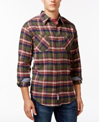 Weatherproof Long Sleeve Plaid Brushed Flannel Shirt