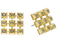 House Of Harlow The Lyra Button Earrings Gold Earring