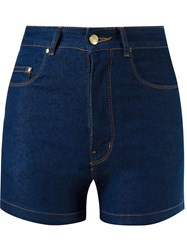 Amapa High Waist Denim Shorts Blue