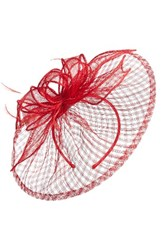 Nordstrom Sinamay Fascinator Headband Red