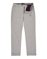 Ted Baker Men's Hiptony Slim Fit Cropped Trousers Light Grey