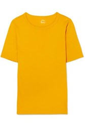 J.Crew Perfect Fit Cotton Jersey T Shirt Yellow