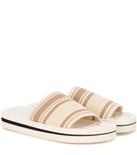 Acne Studios Tania Printed Slip On Sandals Beige